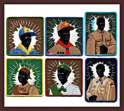 Kerry James Marshall, 'Set of Six (Six) Scout Series Embroidered Patches (Brand New)', 2017