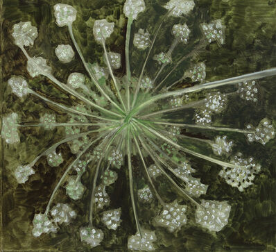 Lois Dodd, 'Queen Anne's Lace, Backview of Head', 2018