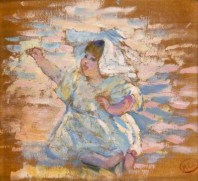 Henri-Edmond Cross, 'Etude pour : Mère jouant avec son enfant', ca. 1897