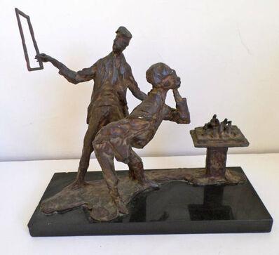 """Stanley Bleifeld, '""""The Critic"""" Figurative bronze sculpture', 1960-1970"""