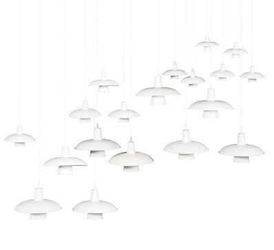 Poul Henningsen, 'Set of 19 pendant lamps', circa 1950