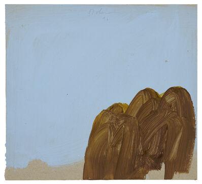 Karl Bohrmann, 'Braune Bäume vor hellblauem Himmel (Brown trees in front of light blue sky)', 1996