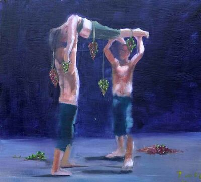 Richard Twose, 'Studies for a Procession with Grapes', 2019