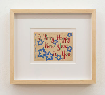 Paula Brunner Abelow, 'A Very Happy New Year to You', ca. 1940