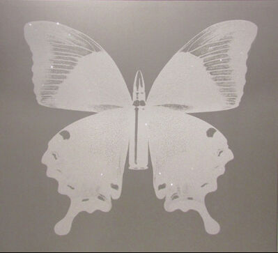 Rubem Robierb, 'White Bullet Fly N - 2 on Silver', 2015