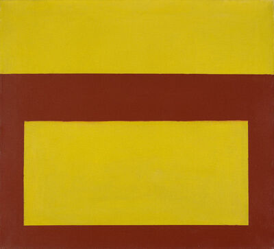 Perle Fine, 'Cool Series (Red over Yellow)', 1961-1963
