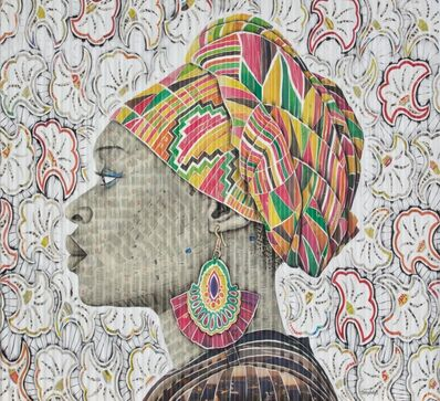 Gary Stephens, 'LETICIA - THE PINK KENTE SCARF', 2020