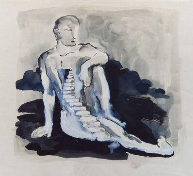 Antonio Hin-yeung Mak, 'Untitled (Staircase on man)', ca. 1975-1990