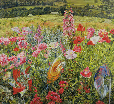 Janet Fish, 'Pinwheels and Poppies', 1990
