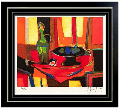 Marcel Mouly, 'Marcel Mouly Original Color Lithograph HAND SIGNED Still Life Cubism Artwork SBO', 20th Century