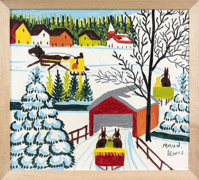 Maud Lewis, 'Covered Bridge'