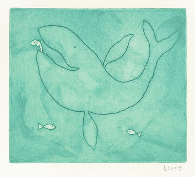 Michael Leunig, 'Jonah and the Whale II', 2017
