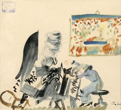 Oskar Laske, 'The piano player', ca. 1940