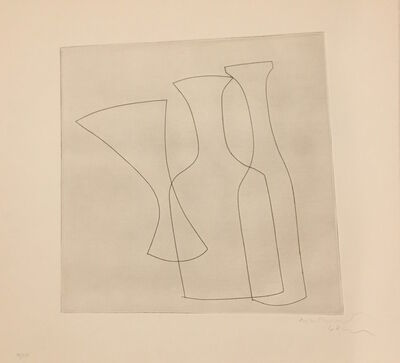 Ben Nicholson, 'Two Bottles and a Glass ', 1969