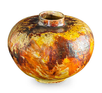 Theophilus A. Brouwer, 'Flame-painted vase, Long Island, NY', 1900s