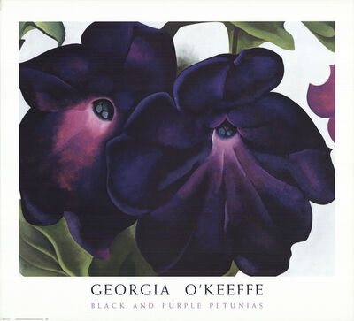 Georgia O'Keeffe, 'Black and Purple Petunias', 1999