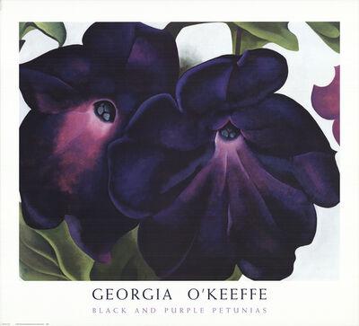 Georgia O'Keeffe, 'Black and Purple Petunias', 1999