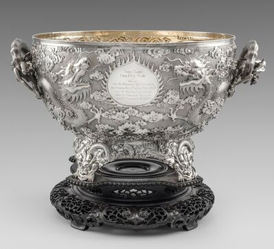 Unknown, 'A Chinese 19th Century Bowl on Stand', Shanghai-circa 1890