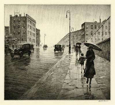 Martin Lewis, 'Rainy Day, Queens', 1931