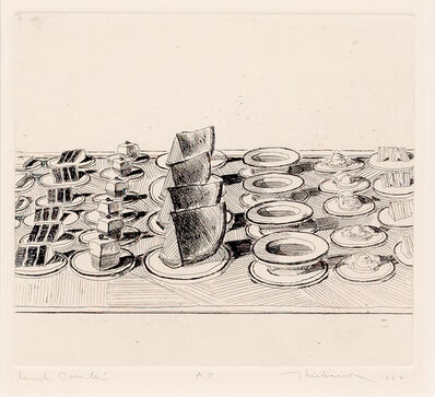 Wayne Thiebaud, 'Lunch Counter, from Delights', 1964