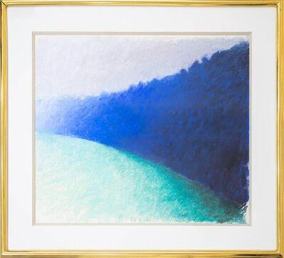Wolf Kahn, 'Square Blue Tree Wall', 1989