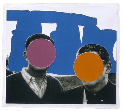 John Baldessari, 'Stonehenge (With Two Persons) Blue', 2005
