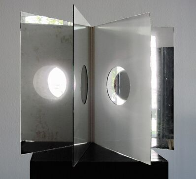 Christian Megert, 'Mirror Book with round Holes', 1963