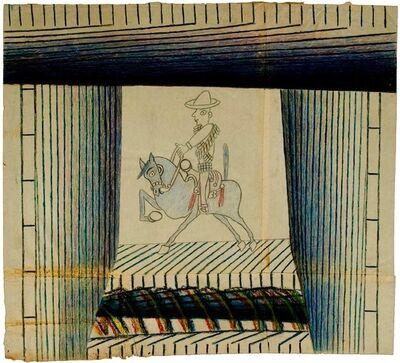 Martín Ramírez, 'Untitled (Caballero on Blue Horse)', ca. 1952