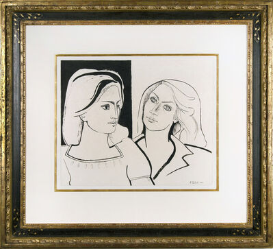 Françoise Gilot, 'The Two Friends III (Geneviève and Françoise)', 1942