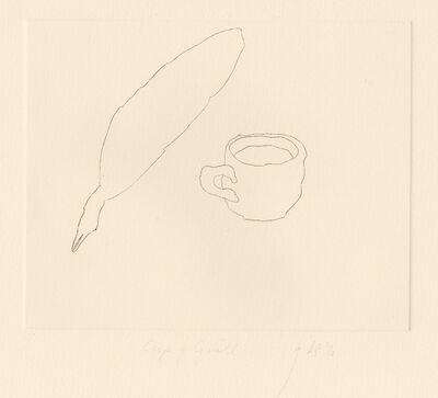 Barry Flanagan, 'Cup and Quill', 1972