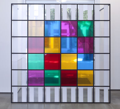 Daniel Buren, 'Colors, light, projection, shadows, transparency - n° 5: situated works', 2015