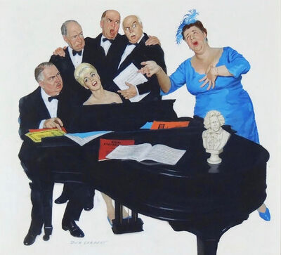 Richard Sargent, 'The Fat Lady Sings, Saturday Evening Post Cover', 1961