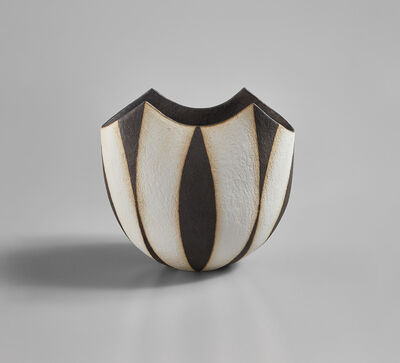 "John Ward, '""Black and White Oval Pot""', circa 1996"