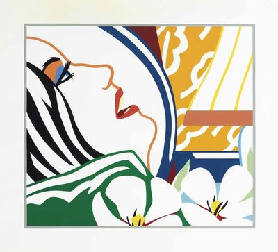 Tom Wesselmann, 'Bedroom Face with Orange Wallpaper', 1987