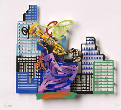 David Gerstein, 'Trumpet player - Paper cut', 2007