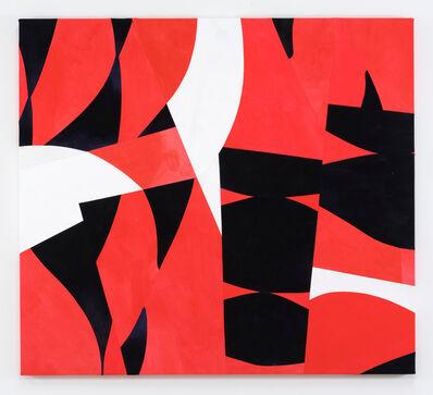 Sarah Crowner, 'Sliced Weeds, Red background', 2017
