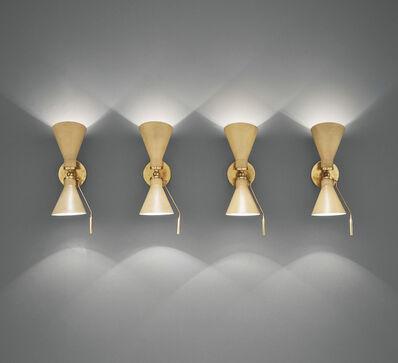 Gino Sarfatti, 'Set of four adjustable wall lights, model no. 131', designed 1947