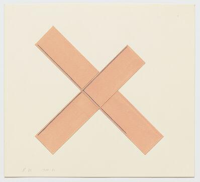 Robert Mangold (b.1937), 'X Within X (Pink)', 1980-1981