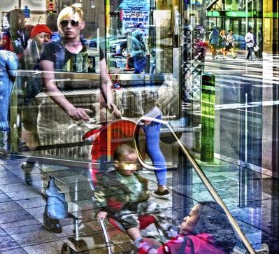 Gary Grissom, 'Baby Stroller, Subway Entrance, Fire Hydrant', 2019