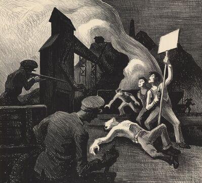 Thomas Hart Benton, 'Strike.  [Mine Strike.]', 1933