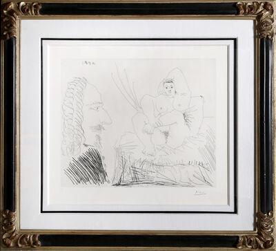 Pablo Picasso, 'Courtisane au Lit avec un Visiteur (Bloch 1553)', 1968