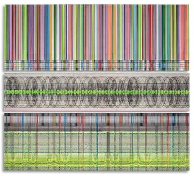 Beverly Fishman, 'Barcode Helix', 2010