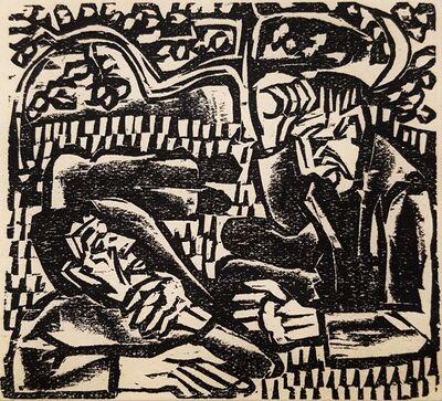 Ernst Ludwig Kirchner, 'Der Briggel: Unter dem Rebstock (Briggel: Under the Vine)', 1923