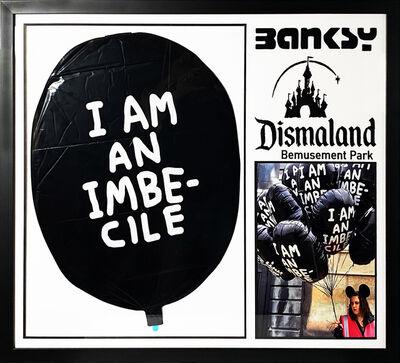 Banksy, ''I Am an Imbecile' Dismaland Vinyl Balloon Framed', 2015