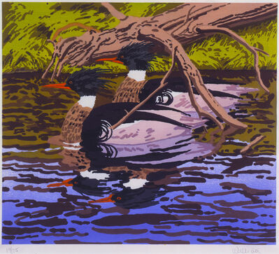 Neil G. Welliver, 'Two Mergansers', 1992