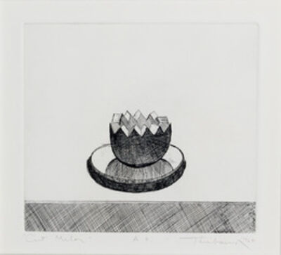 Wayne Thiebaud, 'Cut Melon', 1964