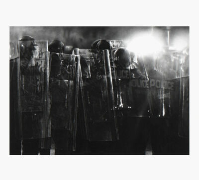 Robert Longo, 'Untitled (Riot Cops) ', 2017