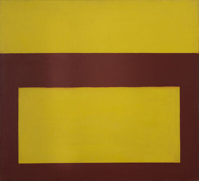Perle Fine, 'Cool Series (Red over Yellow)', ca. 1961-1963