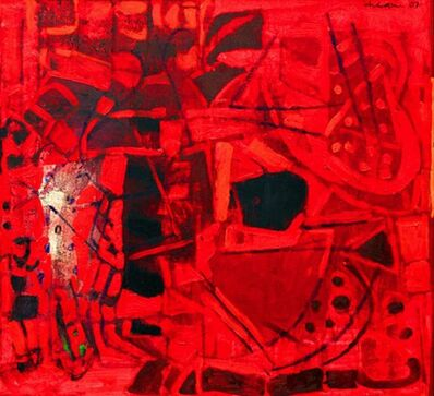 Achuthan Kudallur, 'Untitled II (Red Abstract)', 2007