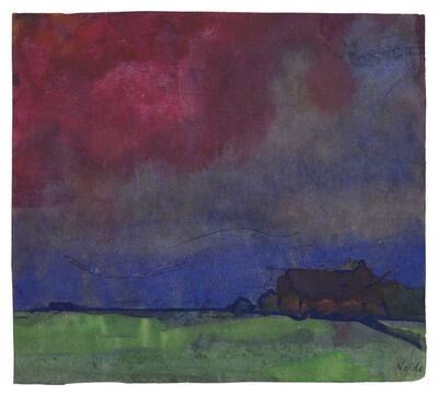 Emil Nolde, 'Abendlandschaft Nordfriesland'